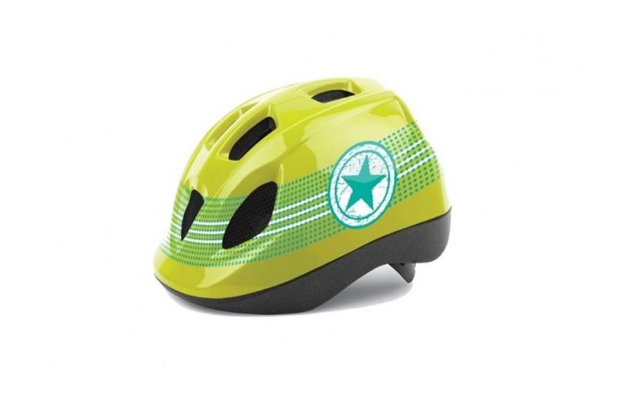 Casco Niño | Polisport Guppy Green Star | Talla XS
