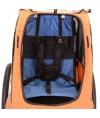 Carrito de paseo Weeride One | Para 1 niño | Color Naranjo - Negro