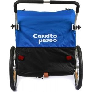 Carrito de paseo Happy | Para trote o jogging + bicicleta | Azul